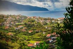 El pequeño pueblo Ponta Delgada Fotos de archivo libres de regalías