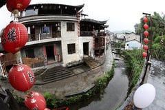 El pequeño pueblo Xiao Likeng, China Imagenes de archivo