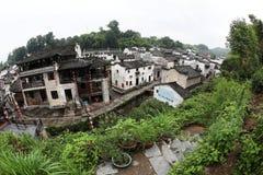 El pequeño pueblo Xiao Likeng, China Imagen de archivo libre de regalías