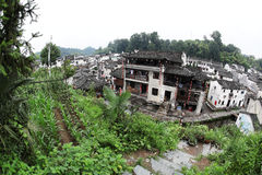 El pequeño pueblo Xiao Likeng, China Fotos de archivo libres de regalías