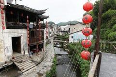El pequeño pueblo Xiao Likeng, China Foto de archivo