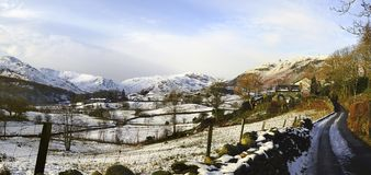 El pequeño valle de Langdale Imagenes de archivo