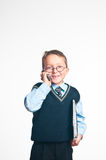 El pequeño hombre de negocios Imagenes de archivo