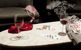 El perder en el póker de tira Foto de archivo libre de regalías