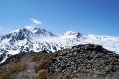 El Peric máximo en Pyrenees durante invierno Fotografía de archivo