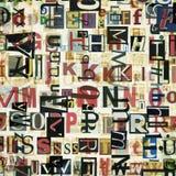 El periódico, collage de la revista pone letras al fondo Imágenes de archivo libres de regalías
