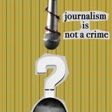 El periodismo no es un crimen en collage contemporáneo imágenes de archivo libres de regalías