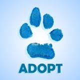 El perro adopta Fotos de archivo libres de regalías