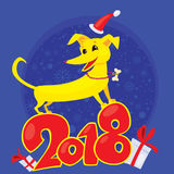 El perro amarillo es el símbolo chino del zodiaco del Año Nuevo 2018 Libre Illustration