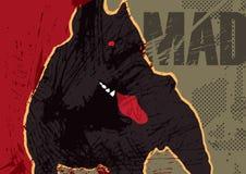 El perro enojado ilustración del vector