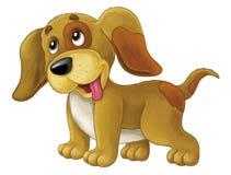 El perro feliz de la historieta es permanente y que parece - estilo artístico - aislado libre illustration
