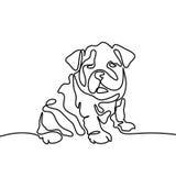 El perro que salta y que juega stock de ilustración