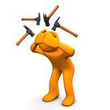 Dolor de cabeza del martillo Imagen de archivo libre de regalías