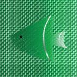 El pescado en verde abstracto entona el fondo Fotos de archivo libres de regalías