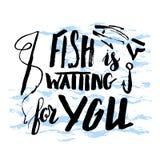 El pescado le está esperando Imagen de archivo