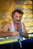 el pescador ha vuelto de la pesca imágenes de archivo libres de regalías
