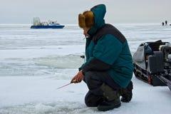 El pescar con caña Fotos de archivo