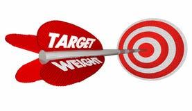 El peso de la blanco pierde el ojo de toros de la flecha de la meta de las libras Foto de archivo libre de regalías
