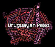 El Peso uruguayo significa intercambio y divisas de moneda ilustración del vector