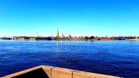 El Peter y Paul Fortress en la sol St Petersburg foto de archivo libre de regalías