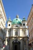 El Peterskirche en Viena imágenes de archivo libres de regalías