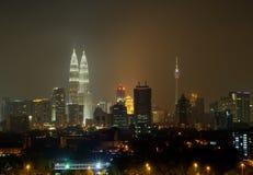 Corazón del centro de ciudad de Kuala Lumpur fotografía de archivo libre de regalías