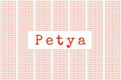 El Petya y el código binario el concepto Secu de Petya y del ransomware libre illustration