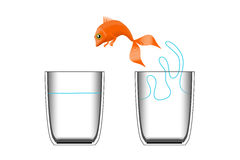 El pez de colores salta Stock de ilustración
