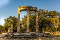 El Philippeion en el Altis de Olympia imagen de archivo libre de regalías