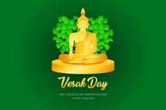 El phra Buda del monje del día de Vesak ruega el frente compuesto concentración del lanzamiento del ejemplo eps10 de la fe de la  ilustración del vector