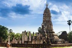 El Phra Prang en el templo de Wat Phra Sri Rattana Mahathat, Sukhotha Imagenes de archivo