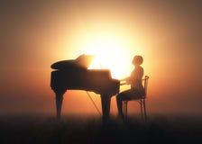 El piano stock de ilustración