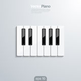 El piano cierra el illlustraion del vector 3d. Imagenes de archivo