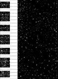 El piano cierra el fondo del cartel del Grunge de la mancha Fotografía de archivo libre de regalías