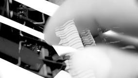 El piano cierra la exposición doble del mecanismo interno macro metrajes