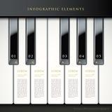 el piano 3d cierra elementos infographic Fotografía de archivo