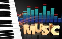 el piano 3d cierra espectro Imagen de archivo libre de regalías