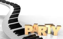 el piano 3d cierra llaves del piano Fotografía de archivo
