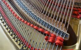 El piano de cola ata el extracto en la opinión del paisaje Fotografía de archivo