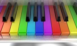 El piano del arco iris Imagenes de archivo