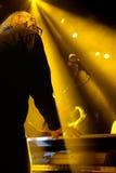 El piano y el teclista de Antibalas (banda) se realiza en el festival 2014 del sonido de Heineken Primavera (PS14) Imágenes de archivo libres de regalías