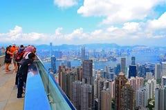 El pico de la terraza 428 del cielo, Hong-Kong Imagen de archivo libre de regalías