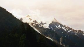 El pico de Mont Blanc shooted en Chamonix Imagen de archivo