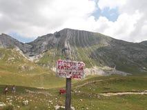 El pico del ¡de PrutaÅ, el parque nacional de Durmitor fotografía de archivo libre de regalías