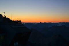 El pico más alto de Zugspitze de Alemania Imágenes de archivo libres de regalías