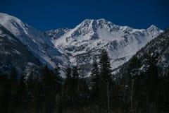 El pico más alto en invierno Imagen de archivo libre de regalías