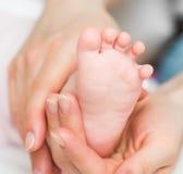 El pie del bebé Fotografía de archivo