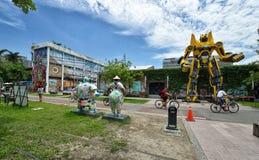 El Pier-2 Art Center en Gaoxiong Foto de archivo