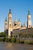 EL pilaire à Zaragoza Photo libre de droits