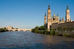 EL pilaire à Zaragoza Photos libres de droits
